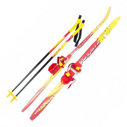 Лыжи детские с мягкими креплениями и палками Karjala Snowstar (100-140 см)